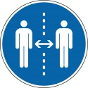 Gebotszeichen Abstand halten