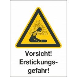 Kombischild Vorsicht! Erstickungsgefahr (W041)