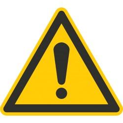 Sicherheitszeichen für den Boden - Warnung vor einer Gefahrstelle