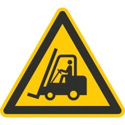 Sicherheitszeichen für den Boden - Warnung vor Flurförderzeugen