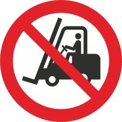 Sicherheitszeichen für den Boden - Für Flurförderzeuge verboten