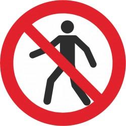 Sicherheitszeichen für den Boden - Für Fußgänger verboten