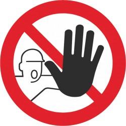 Sicherheitszeichen für den Boden - Zutritt für Unbefugte verboten