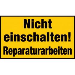 Nicht einschalten! Reparaturarbeiten