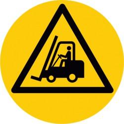 Bodenmarkierung, Symbol Vorsicht Flurförderfahrzeuge