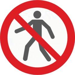 Bodenmarkierung, Symbol Für Fußgänger verboten