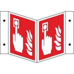 Winkelschild Brandmelder - manuell (F005)