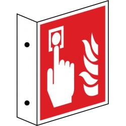 Fahnenschild Brandmelder - manuell (F005)