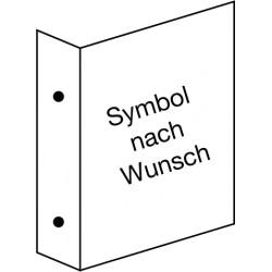 Fahnenschild neutrale Ausführung, wahlweise mit Symbol nach Wunsch
