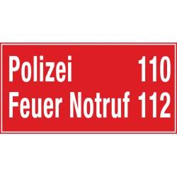 Polizei 110   Feuer Notrof 112