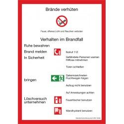 Brandschutzordnung DIN 14096-A