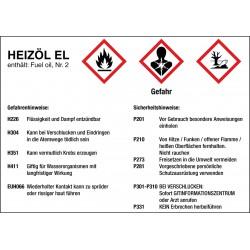 Heizöl EL Gefahren- und Sicherheitshinweise
