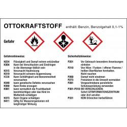 Ottokraftstoff, Gefahren- und Sicherheitshinweise
