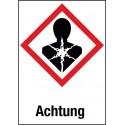 Achtung, Krebserzeugend, mutagen, reproduktionstoxisch, (GHS 08)