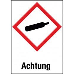 Achtung, Unter Druck stehende Gase (GHS 04)