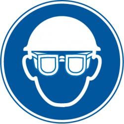 Eitkett  Augenschutz und Kopfschutz benutzen