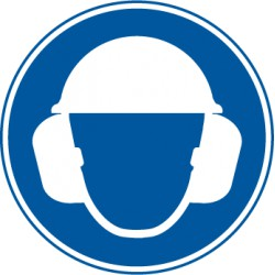 Eitkett  Gehörschutz und Kopfschutz benutzen