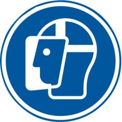 Etikett Gesischtsschutzschild benutzen (M013)