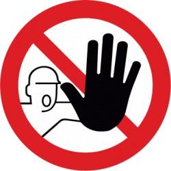 Etikett Zutritt für Unbefugte verboten (D-P006)