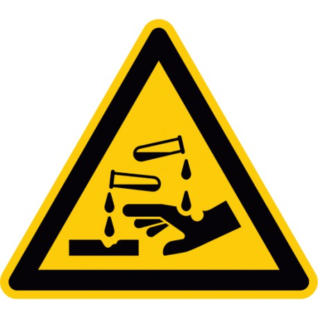 Etikett Warnung vor ätzenden Stoffen (W023)