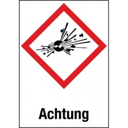 Etikett Explosive Stoffe (GHS 01)