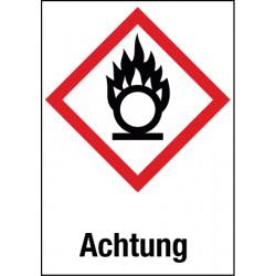 Etikett Entzündend (Oxidierend) wirkende Stoffe (GHS 03)