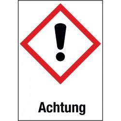 Etikett Achtung, Akute Toxizität, Reizung der Haut, Augenreizung (GHS 07)