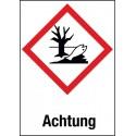 Etikett Achtung, Gewässergefährdend (GHS 09)