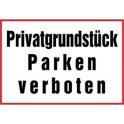 Privatgrundstück, Parken verboten