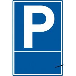 Parkplatz mit optionalem individuellem Text