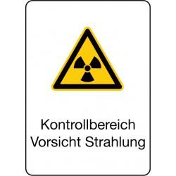 Kontrollbereich Vorsicht Strahlung