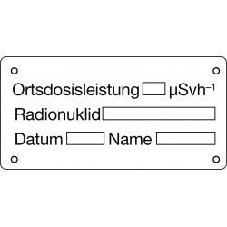Ortsdosisleistung, Radionuklid, Datum, Name