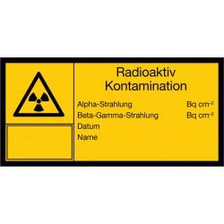 Radioaktiv Kontamination, Alpha-Strahlung, Beta-Gamma-Strahlung, Datum, Name