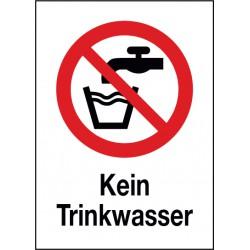 Kombischild Kein Trinkwasser (P005)
