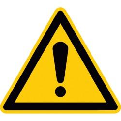 Warnung vor einer Gefahrenstelle (W001)