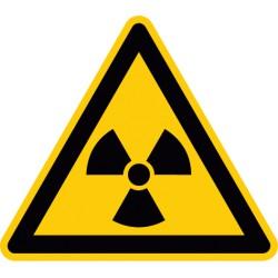 Warnung vor radioaktiven Stoffen oder ionisierenden Strahlen (W003)