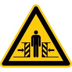 Warnung vor Quetschgefahr (W019)