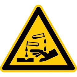 Warnung vor ätzenden Stoffen (W023)