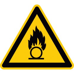 Warnung vor brandfördernden Stoffen (W028)
