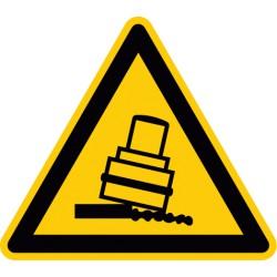 Warnung vor Kippgefahr beim Walzen (D-W024)