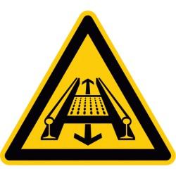 Warnung vor Gefahren durch eine Förderanlage im Gleis (D-W029)