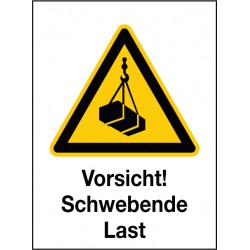 Kombischild Vorsicht! Schwebende Last (W015)