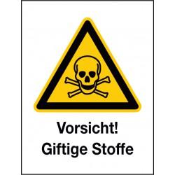 Kombischild Vorsicht! Giftige Stoffe (W016)