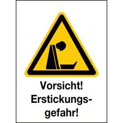 Kombischild Vorsicht! Erstickungsgefahr!