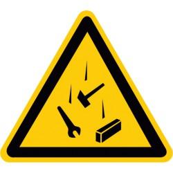 Warnung vor herabfallenden Teilen