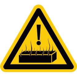 Warnung vor heißen Stoffen