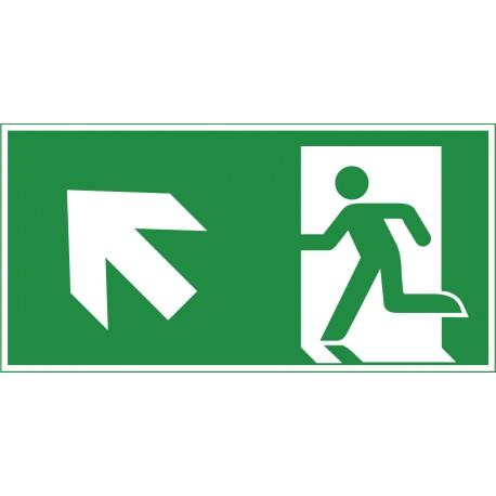 Rettungsweg aufwärts links