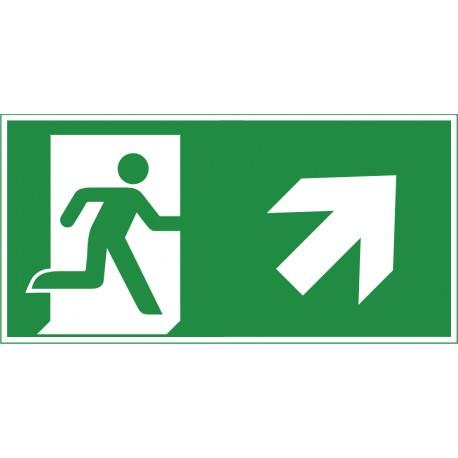 Rettungsweg aufwärts rechts