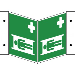 Winkelschild Krankentrage (E013)