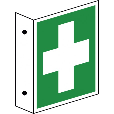 Fahnenschild Erste-Hilfe (E003)